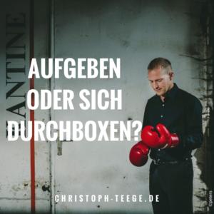 Boxen als Teamevent, Christoph Teege