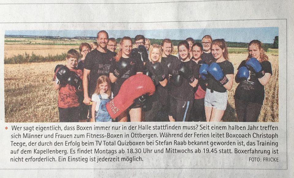 Boxen in Ottbergen, Fitness-Boxen, Christoph Teege