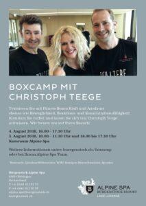 Boxcamp, christoph teege, Bürgenstock Resort, Schweiz