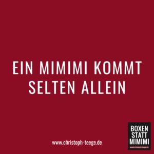 Mimimi, Jammern Meckern, Boxen statt Mimimi, Christoph Teege, Fitness-boxen, Motivation, Sport, Fitness-Motivation